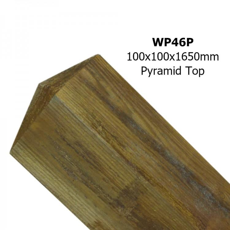 REDWOOD POST 100MM X 100MM X 1650MM PYRAMID TOP