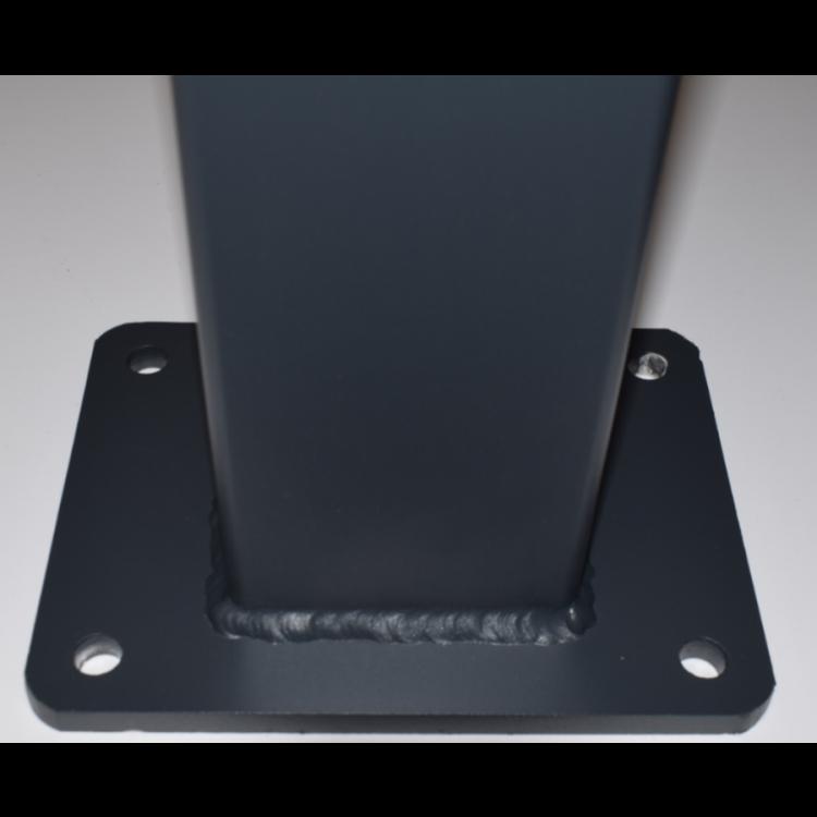 100x100x3.5mm-2400mm Aluminium flanged post - Grey