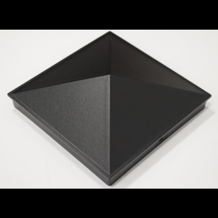 Aluminium cap 100x100mm - Black