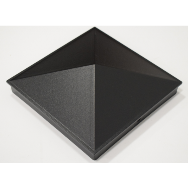 Aluminium cap 150x150mm - Black