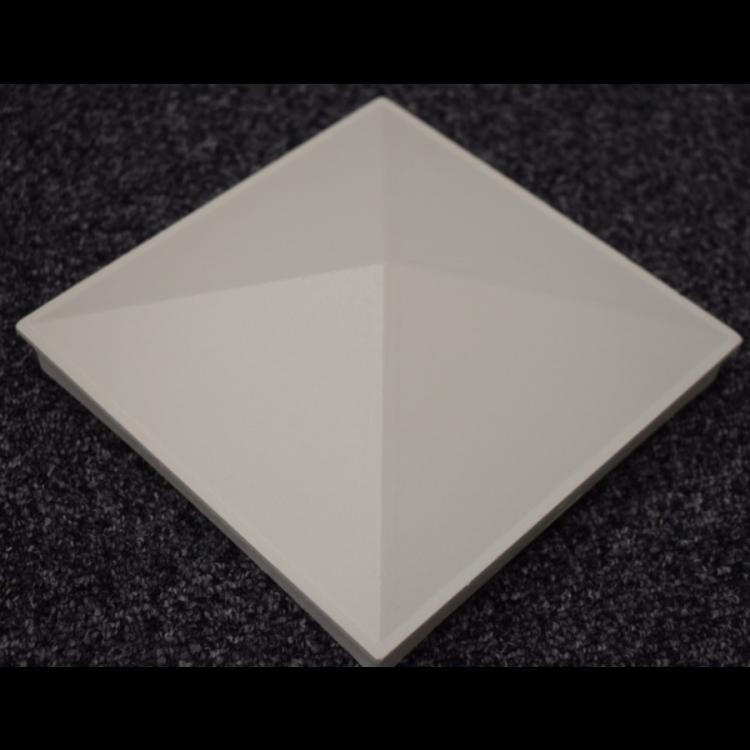 Aluminium cap 150x150mm - White
