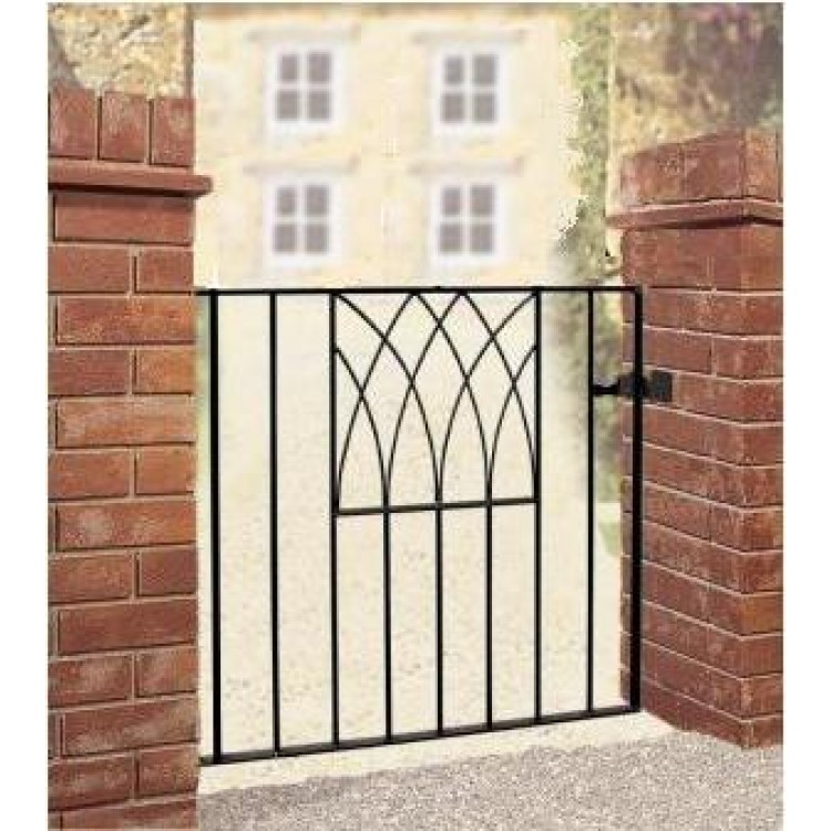 "ABBEY SINGLE GATE 32"" HIGH X 3' GAP ZINC & POWDER"
