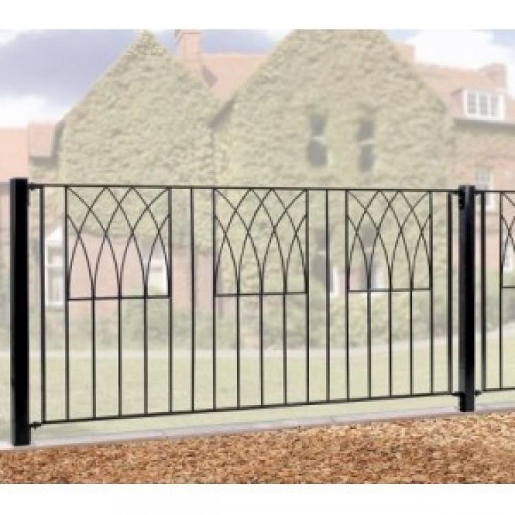 """Abbey Fence 32"""" High X 6' Gap Zinc & Powder"""