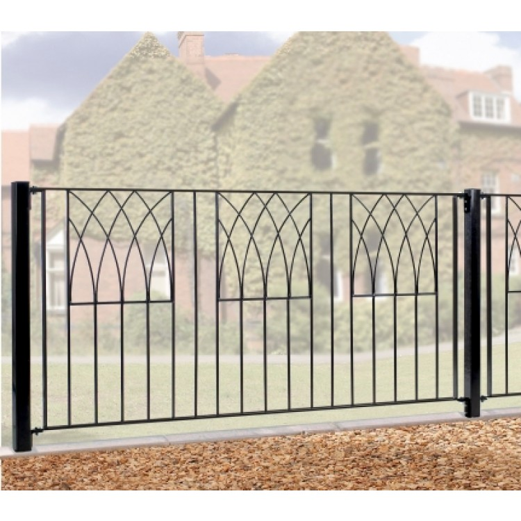 Square Metal Post for Classic, Abbey and Regent Gates and Railings