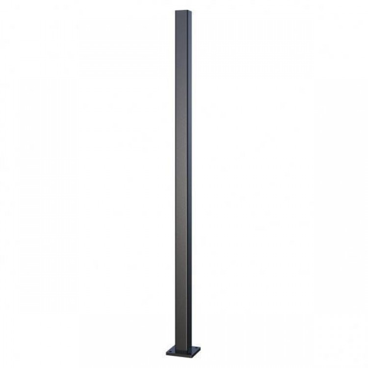 100x100x3.5mm-2400mm Aluminium flanged post - Black
