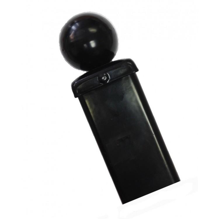 UNIVERSAL BLANK BALL TOP GATE/FENCE POST 50MM SQ X 1400MM ZP