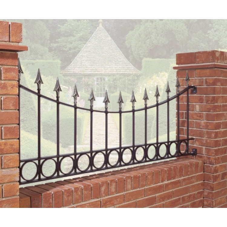 Balmoral Spear Top Arched Railing With Rings 735 High