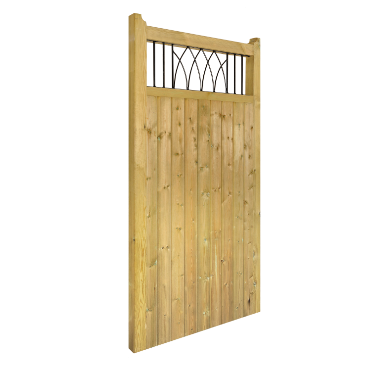 WINDSOR WOODEN TALL SINGLE GATE 1800MM HIGH X 1050MM WIDE