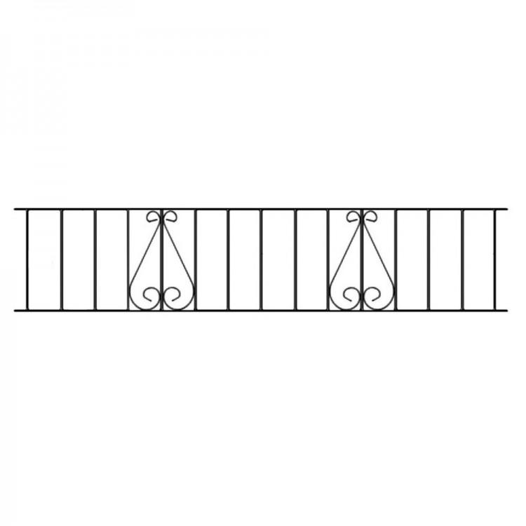 Classic Railing Panel 1830mm W X 355mm H