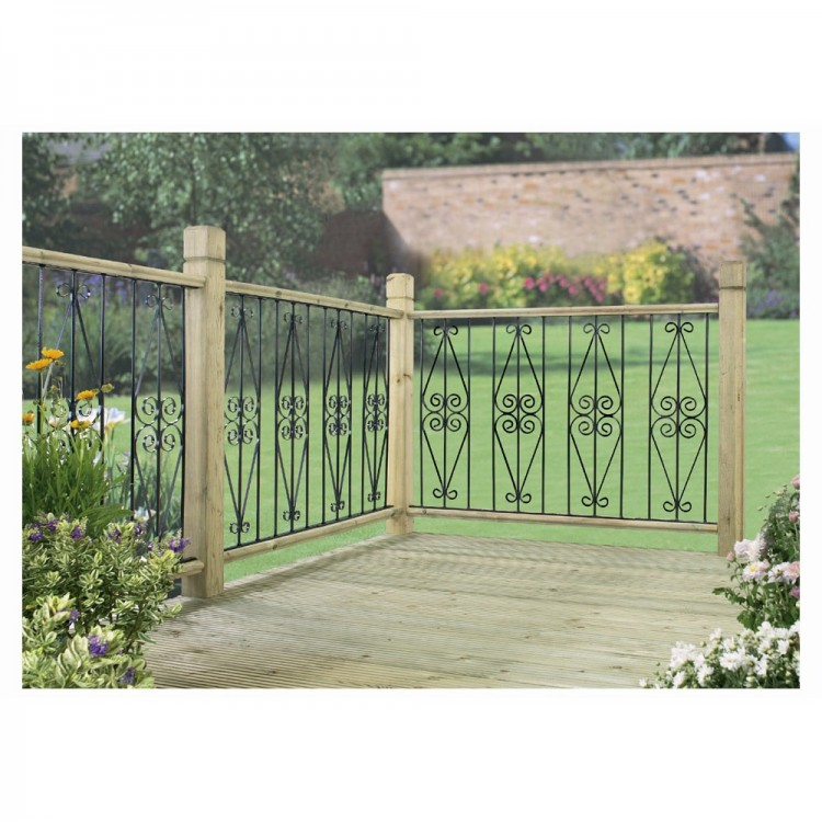 ASCOT DECK PANELS 2 PACK ZINC & POWDER BLACK.Solid Metal deck / fence infill panels, easily screws between upper and lower wooden frames, (not included).Pack of 2 panels to form a run of 560mm.Each panel is 280mm wide x 770mm high.Zinc plated for added