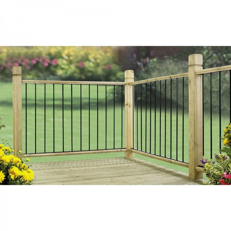 GARDA DECK PANELS 2 PACK ZINC & POWDER BLACK