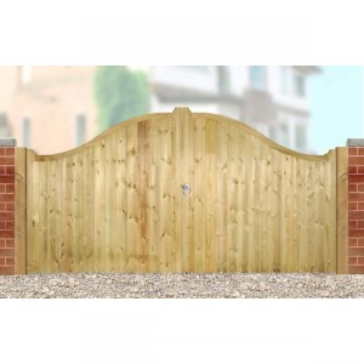 DRAYTON LOW SHAPED DRIVEWAY GATE 1250MM HIGH X 2700MM WIDE