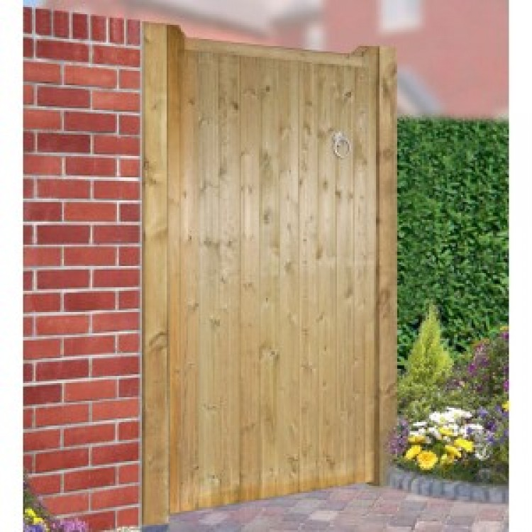 DRAYTON FLAT TOP SINGLE WOODEN GATE 1050MM WIDE X 1500MM H