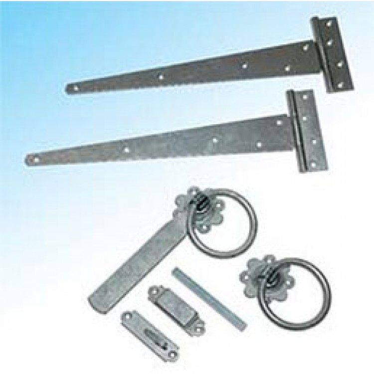 "SINGLE FITTINGS BLACK 18"" T-HINGE+LATCH"