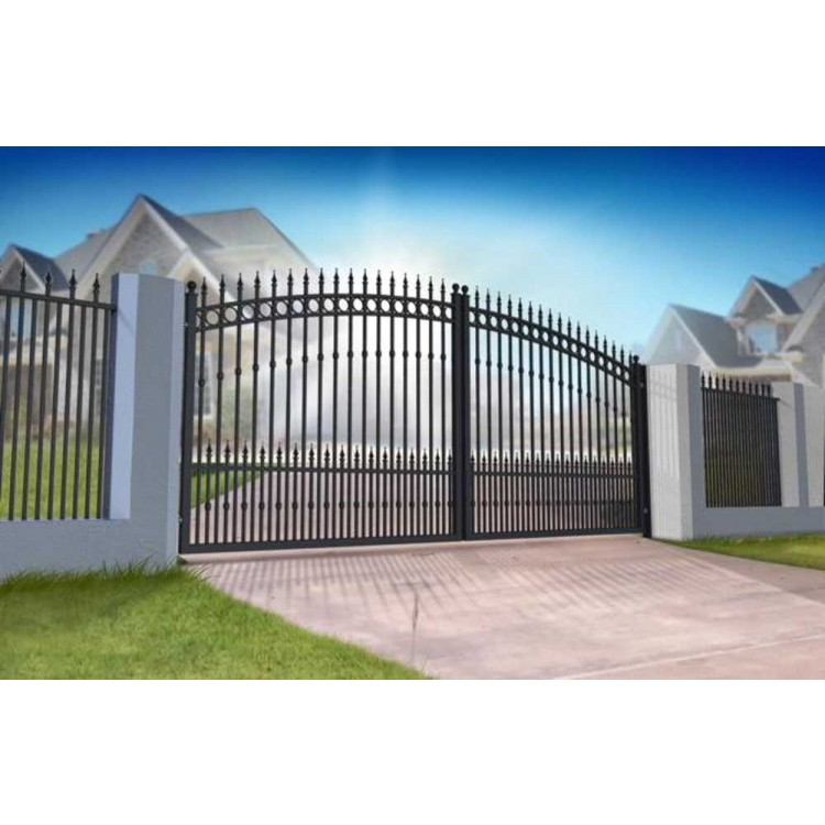 Double Swing Gate 3000x1600mm P/C Satin Black