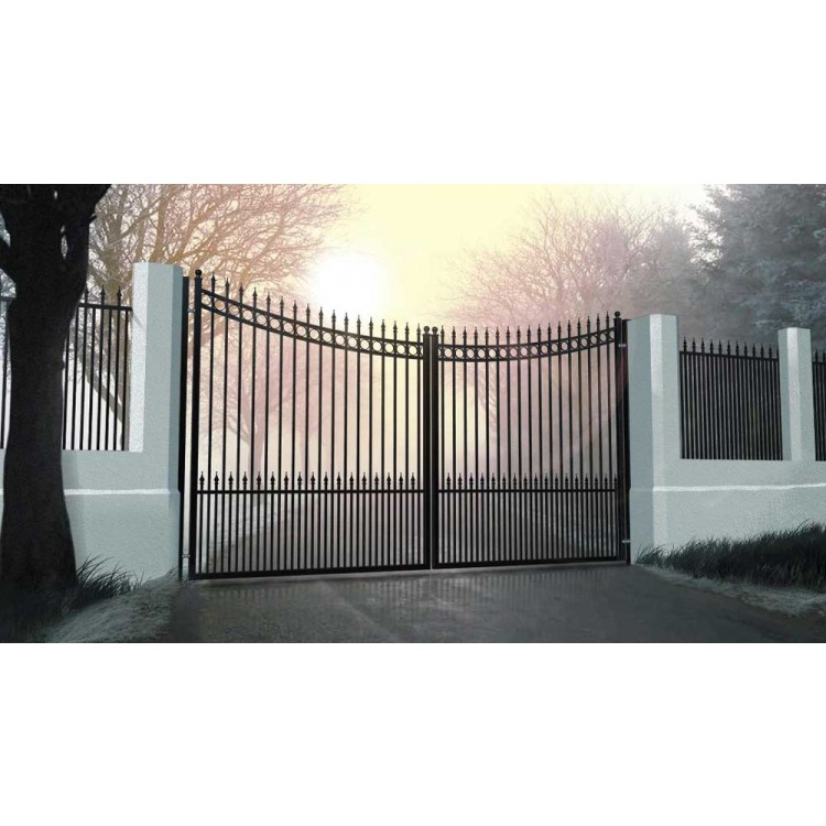 Double swing gates 3000x1600mm p/c satin black