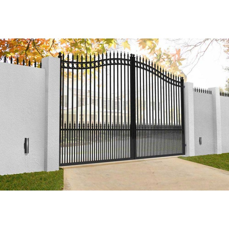 Double swing gates 3500x2400mm p/c satin black