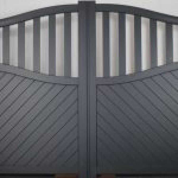 Double swing gate 3000x1600mm p/c Sandy grey