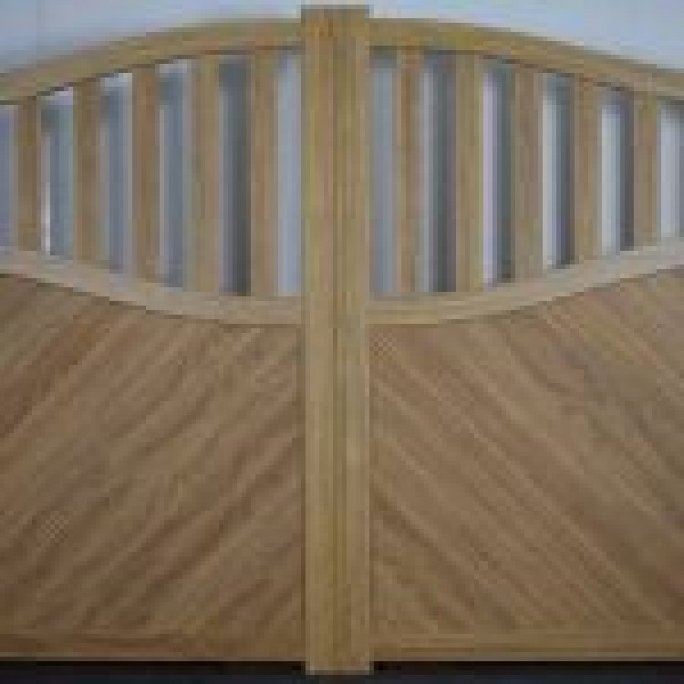 Double swing gate 3000x1600mm - Sandy wood