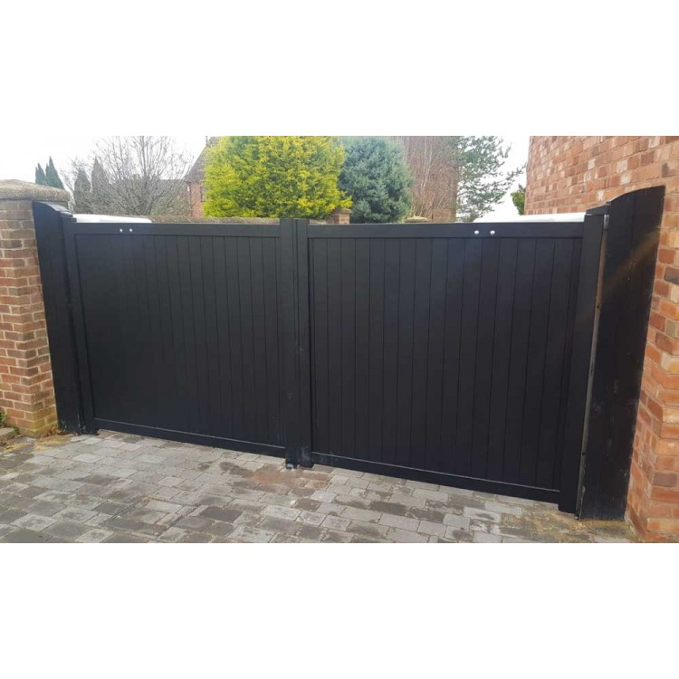 Double swing gate 3000x1600mm p/c Sandy Black