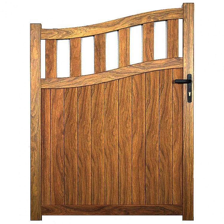Pedestrian gate 1000x1600mm p/c Sandy wood