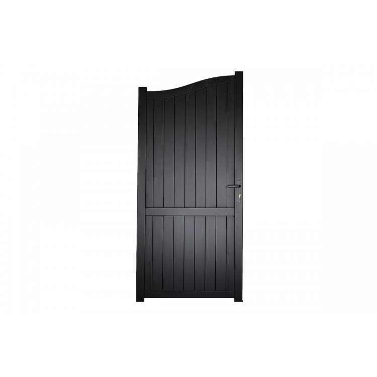 Pedestrian gate 1200x2000mm p/c Sandy black