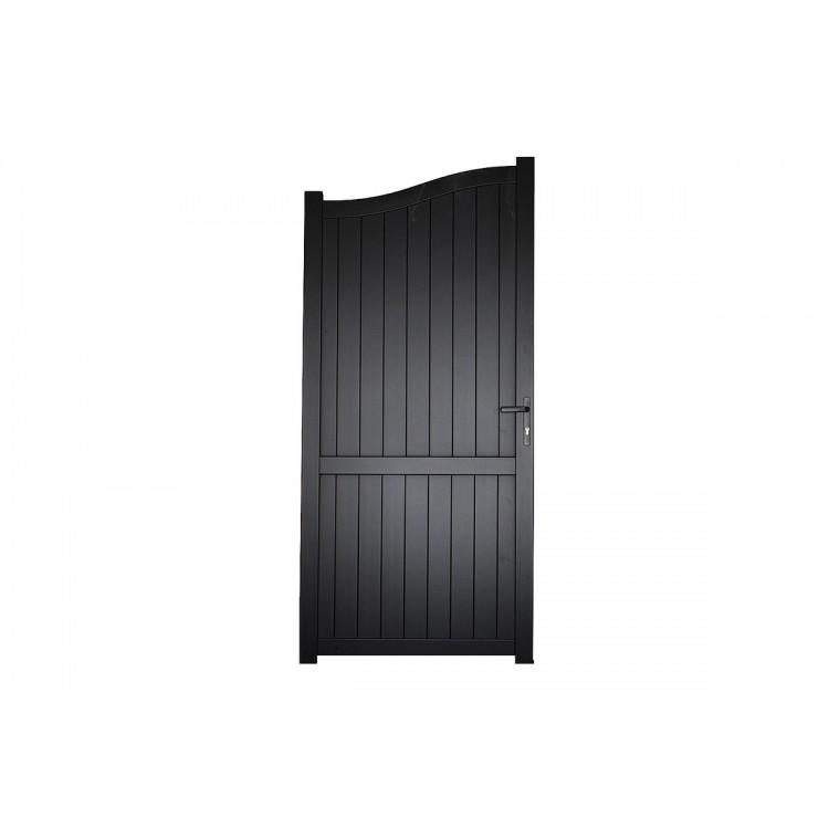 Pedestrian gate 1200x2200mm p/c Sandy black