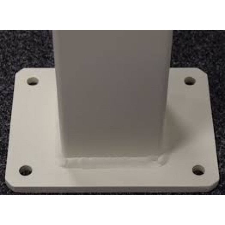 150x150x3.5mm-2400mm Aluminium flanged post - White