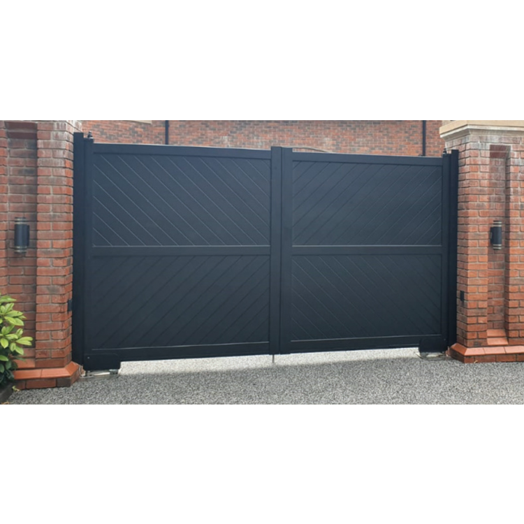 Double swing gate 3750x2000mm p/c Sandy Black