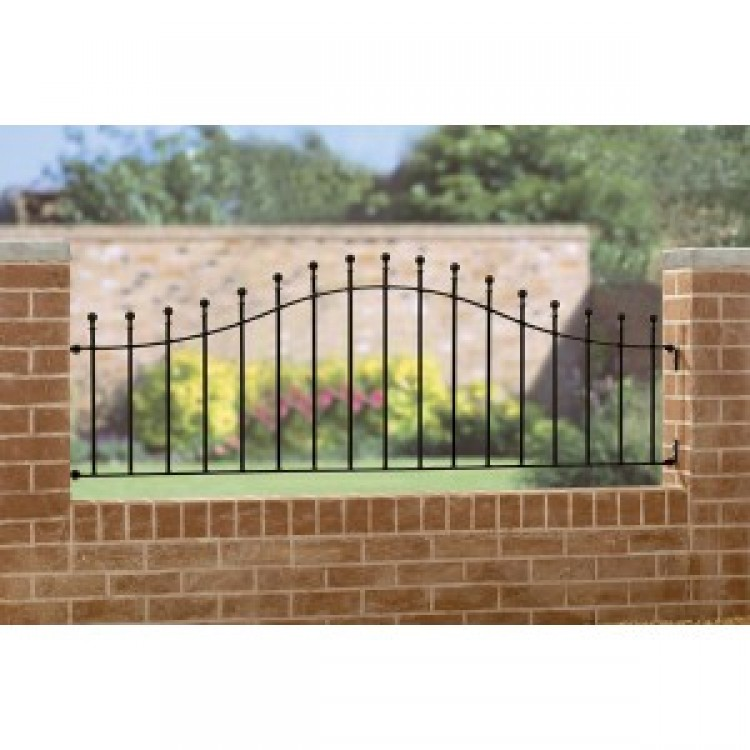 "MANOR ARCHED RAILING 24.5"" HIGH X 6' GAP"