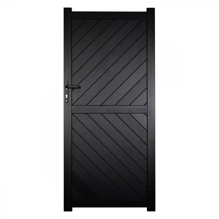 Pedestrian gate 900x2200mm p/c Sandy black