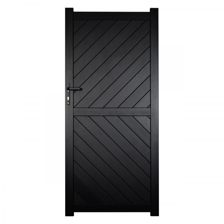 Pedestrian gate 900x1800mm p/c Sandy black