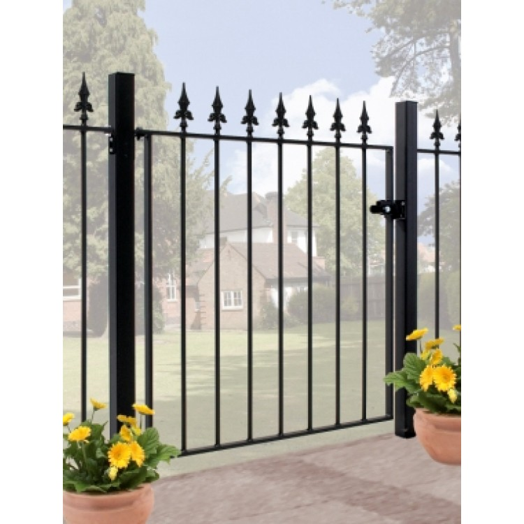 "SAXON SINGLE GATE 37.5"" HIGH X 3' 6"" GAP ZINC & POWDER"