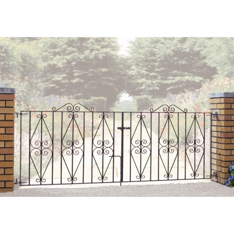 "STIRLING DOUBLE GATE 36"" HIGH X 8' GAP ZINC & POWDER"