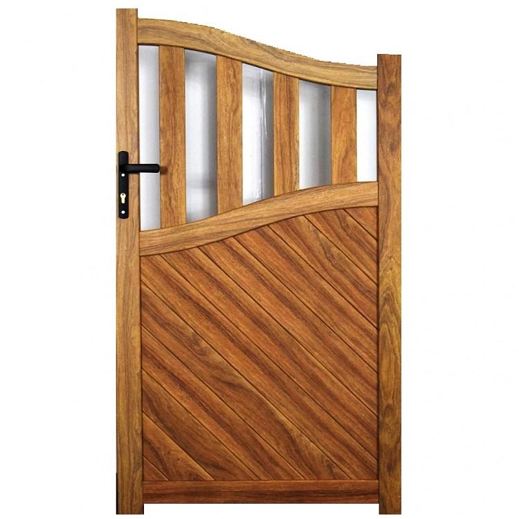 Pedestrian gate 1000x1800mm p/c Sandy wood